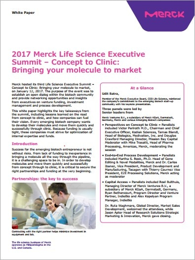 2017 Life Science Executive Summit White Paper