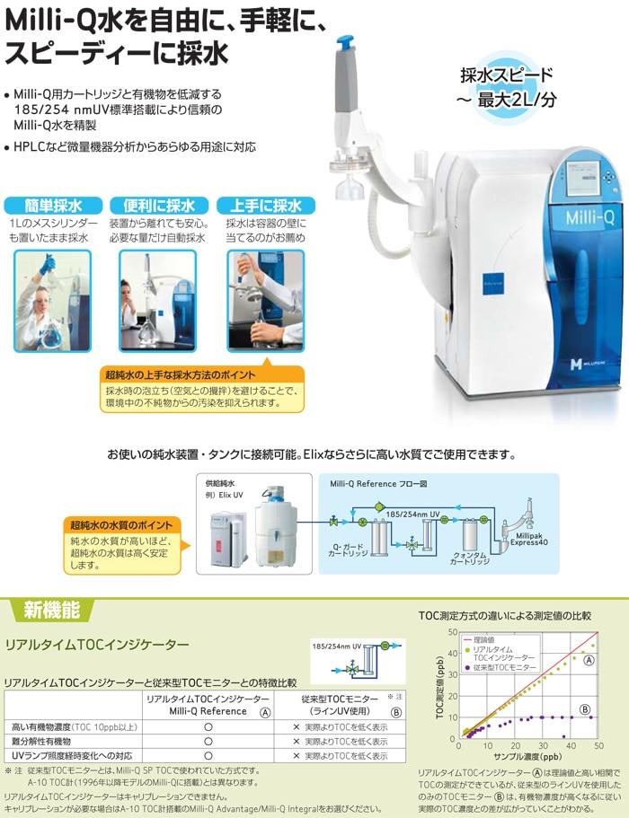 超純水装置 Milli Q Reference メルク
