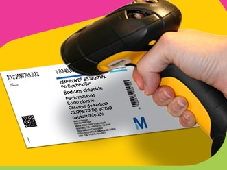 Smart Label with 2D Data Matrix GS1 Barcode | Merck