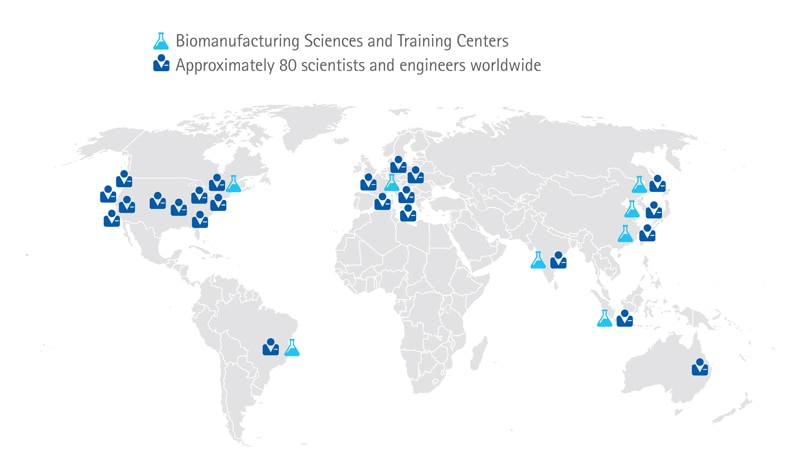 Biomanufacturing Locatons Map